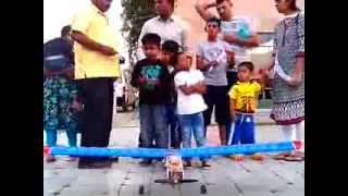 Remote Toy Flying Plane at Eenadu Paper  Kids Expo - V Jaidev, V Jaidev & Dhana Lakshmi