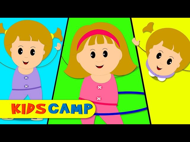 Head Shoulders Knees and Toes   Action Song for Children   Exercise Song of Elly and Eva by KidsCamp