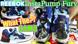 5c3ebe62db9 Reebok  WHAT THE !  CAMO Instapump Fury Road CC Black Solar Yellow UNBOXING