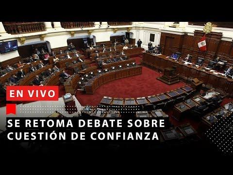 Realizan votación por cuestión de confianza | RTV EN VIVO