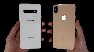 Samsung Galaxy S10+ vs iPhone XS Max Speed Test, Cameras & Speakers!
