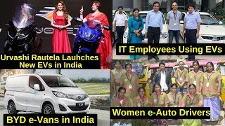 Electric Vehicles News 20: Women e-Auto Drivers India, Revolt RV 400 Bookings, BYD Electric Van