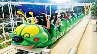 essel world tunnel twister ride , 7 wonders of mumbai amusement park , maharastra tourism
