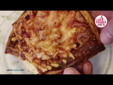 Trader Joe's Uncured Ham & Swiss Cheese Flaky Croissant Squares | Taste Test & Review | JKMCraveTV