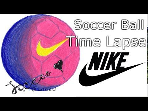 Nike soccer ball drawing