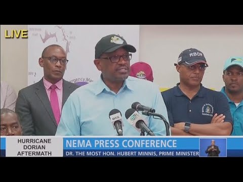 Watch live: Prime Minister of Bahamas holds press conference on Hurricane Dorian aftermath