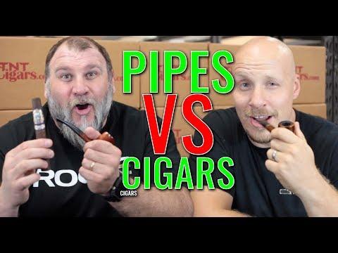 Pipes vs. Cigars (f. Perla Del Mar Maduro & El Baton Cigars)