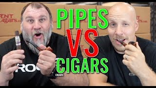Pipes vs. Cigars (f. Perla Del Mar Maduro & El Baton Cigars)