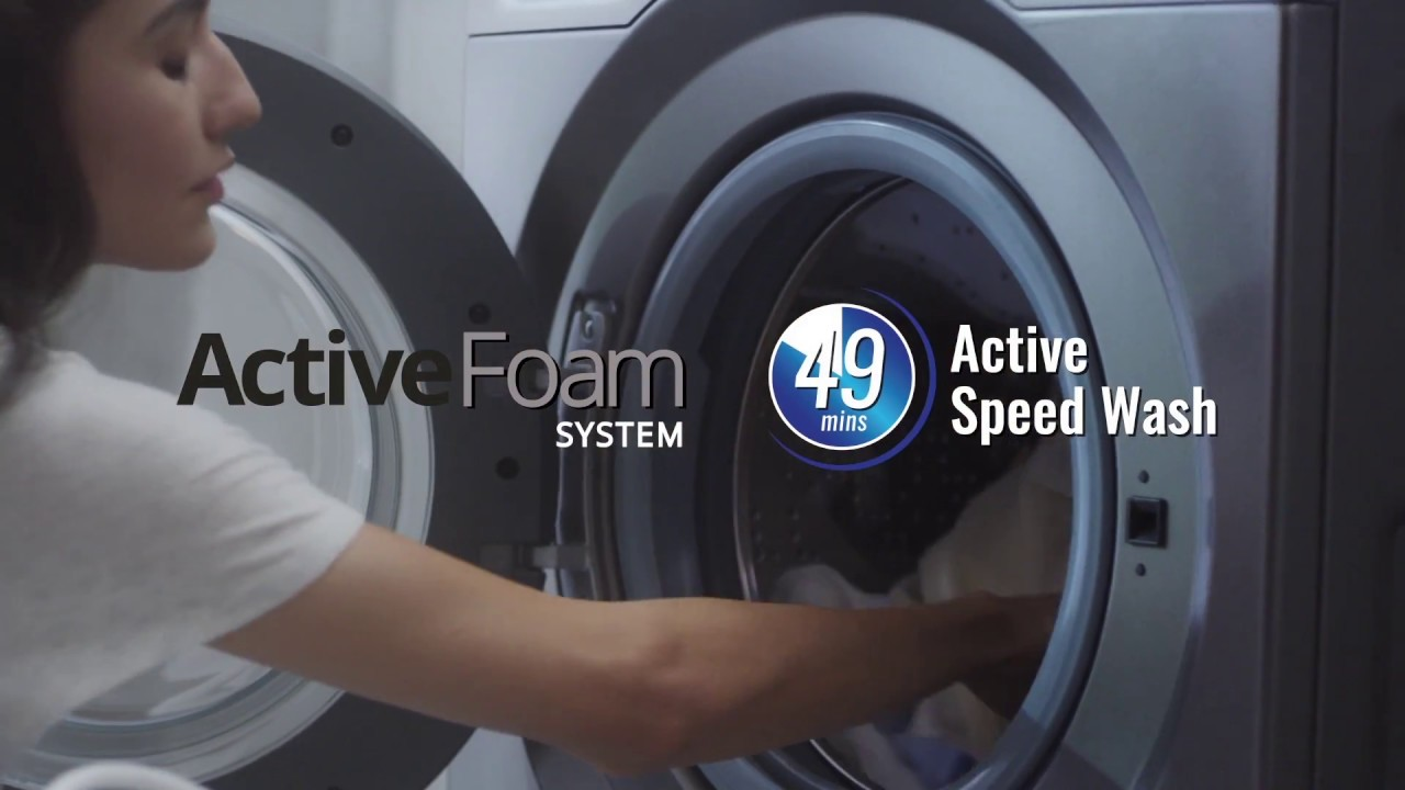 Panasonic VX6 Front Load Washers - Active Foam with Active Speed ...