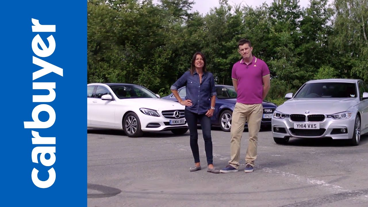 mercedes c-class vs bmw 3 series vs audi a4 - carbuyer - youtube