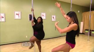 Loni Love Learns to Pole Dance w/ Nicole Williams at Allure Dance Studio (Ellen Show)(The Ellen show went to Los Angeles to visit the #1 Studio Allure Dance & Fitness and to pair Loni Love up with International Pole Superstar Nicole ThePole ..., 2013-12-12T19:16:32.000Z)