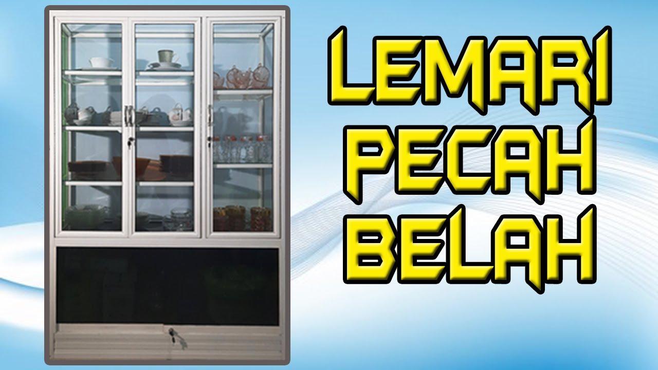 Review Lemari Pecah Belah Berbahan Aluminium Dan Kaca Youtube Poto lemari aluminium