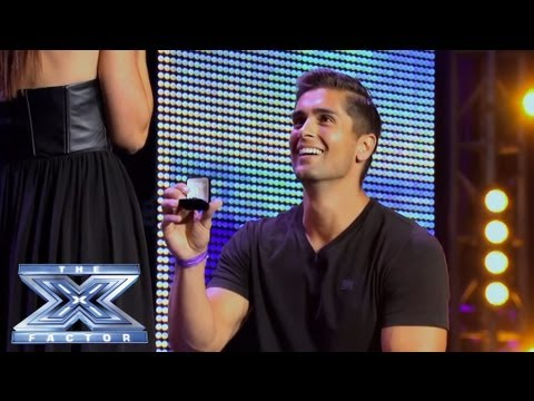 David and Lauren's NearPerfect Proposal  THE X FACTOR USA 2013