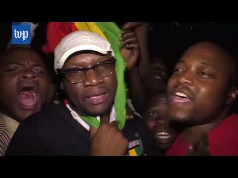 Celebration in Zimbabwe as Robert Mugabe resigns