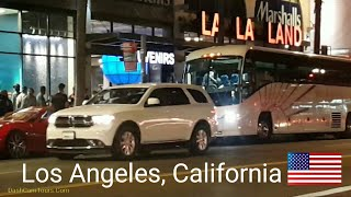 Night Driving Tour of Los Angeles, California, USA: July, 2017
