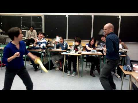 Teacher fights Student! EpiC BATTLE!