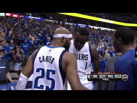 Vince Carter hits buzzer-beater three-pointer game-winner: Spurs at Mavericks, Game 3