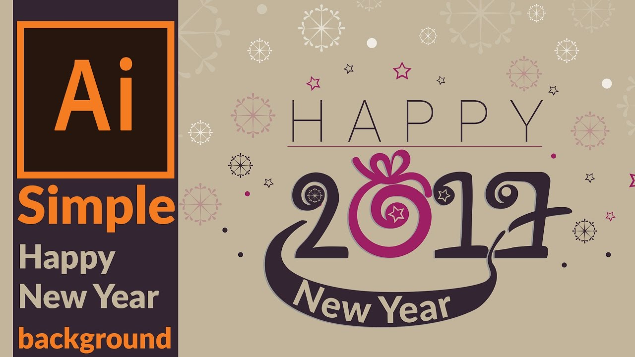 adobe illustrator create a simple happy new year background cards youtube