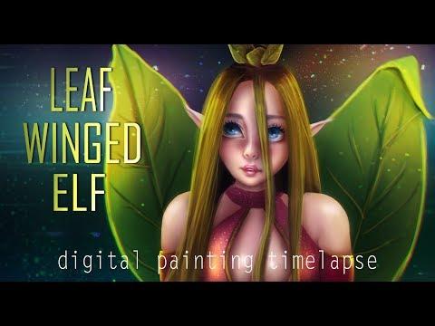 Leaf Winged Elf | Digital Painting Timelapse