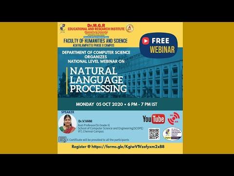 National Level Webinar on Natural Language Processing