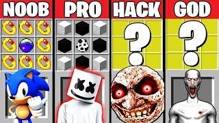 Minecraft Battle: MARSHMELLO & SCP-096 CRAFTING CHALLENGE ~ NOOB vs PRO vs HACKER vs GOD – Animation