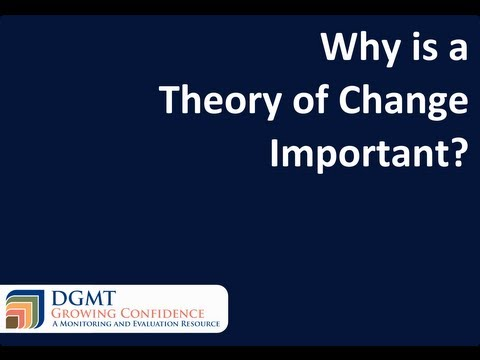 Why is a Theory of Change important?