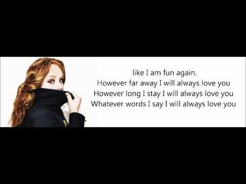 Adele Love Song Lyrics On Screen