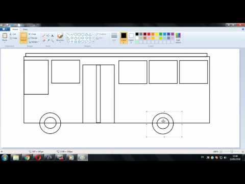 Paint : สอนวาดภาพรถบัส