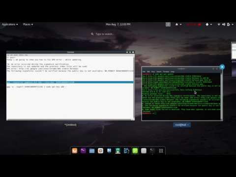 Kali Linux GPG PUBLIC_KEY Not Found Error Fix