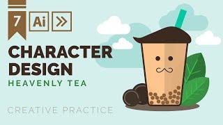 Character Design: Bubble Tea 🥤 | Adobe Illustrator