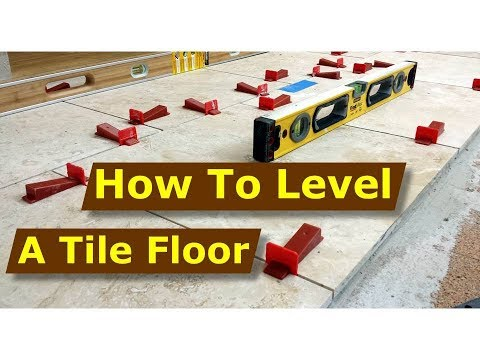 how to install perfectly level travertine stone tiles using raimondi tile levelling system
