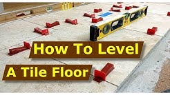 How To Perfectly Level Tile Floors, Raimondi Tile Leveling Systems