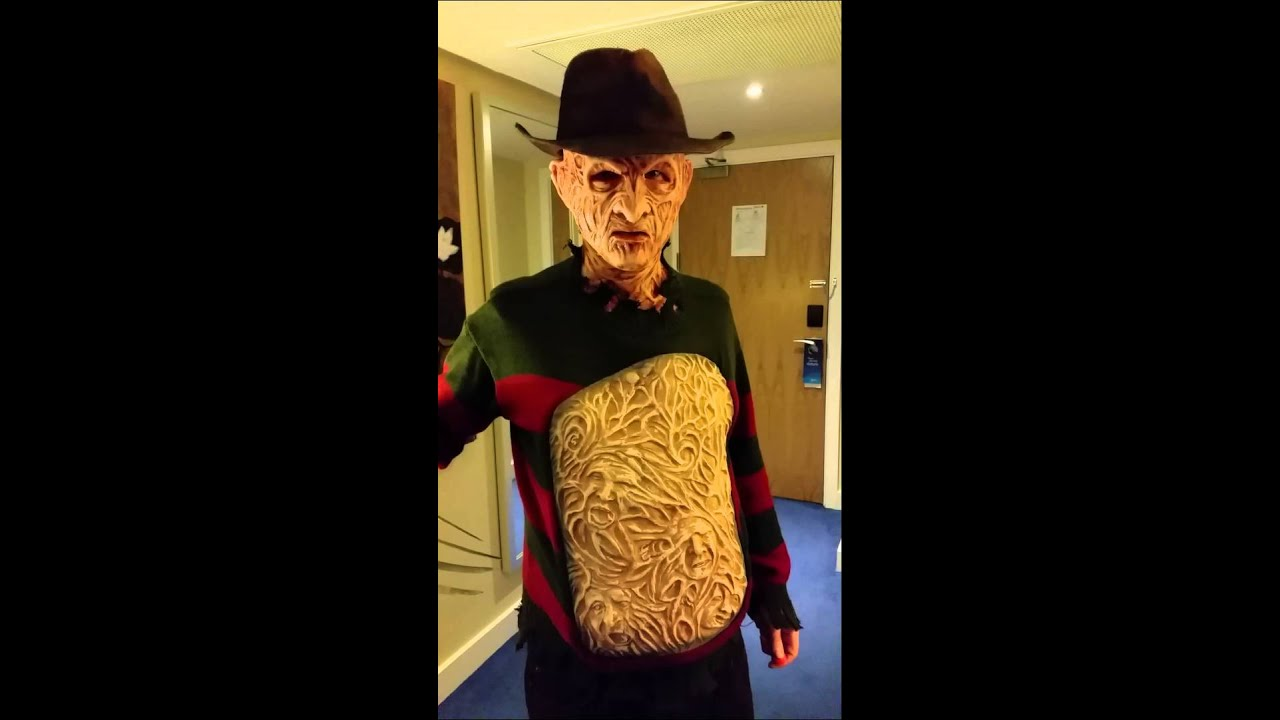 freddy krueger costume with chest of souls - youtube