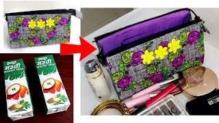 #Best way to reuse empty tetra packs at Home#DIY Organizer from waste tetra packet#wastematerialcraf