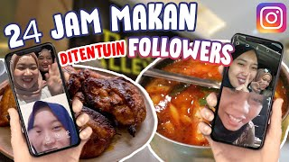 24 JAM MAKAN DITENTUIN FOLLOWERS INSTAGRAM! DISURUH MAKAN APA YAA