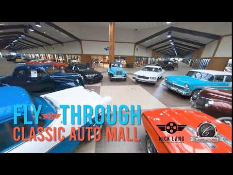 Drone Flies Over an Astonishing Car Collection