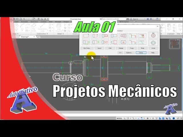 Curso Projetos Mecânicos  Aula 01/30   Autocriativo