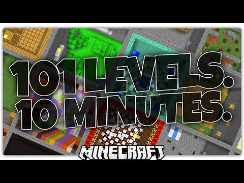 How Many Parkour Levels Can You Beat in 10 Minutes? ULTIMATE Minecraft Parkour Challenge