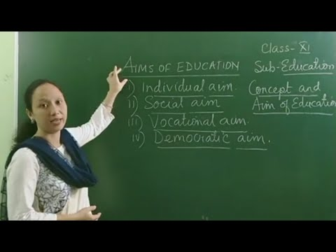 CLASS 11 | EDUCATION| CONCEPT AND AIMS OF EDUCATION| PART-1