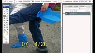 Уроки фотошоп. Удаление даты с фото.