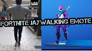 Fortnite New Dance Jaywalking Challenge en la vida real, #viral #middleeastserver #mumbaiserver