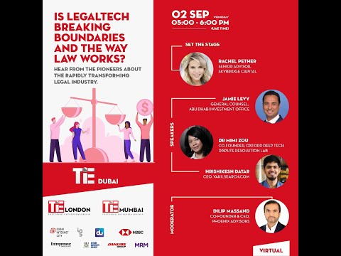 TiE Legal: Is Legaltech Breaking Boundaries And The Way Law Works? (Highlights)