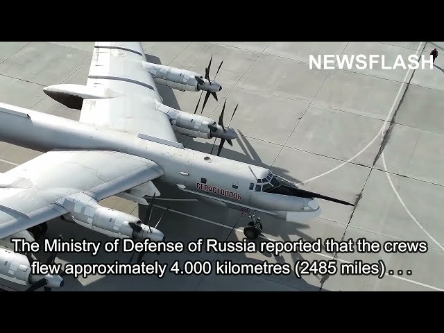 Tu-160 And Tu-95 Strategic Bomber Crews Perform Tactical Exercise In Russia And In The Arctic