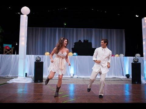Surprise Wedding Dance Footloose Trent and Annalisa Brookshier