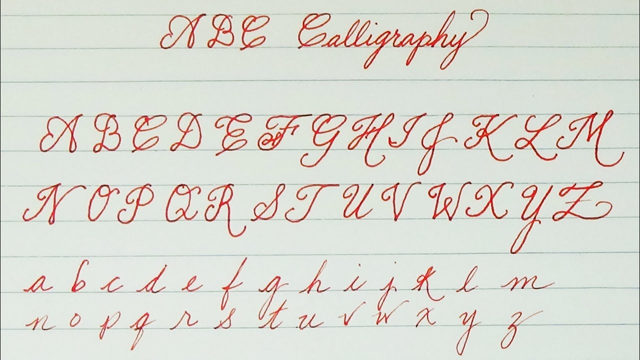 Calligrafia Old School Learn To Write Abc Calligraphy For Kids