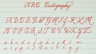 Learn to write ABC Calligraphy for Kids