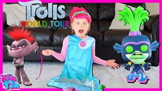 Trolls Poppy World Tour Song Party with Barb | Trolls Movie Pretend Play!