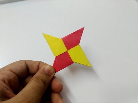 How to make origami paper ninja star - 1 | Origami / Paper Folding Craft Videos & Tutorials.