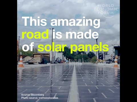 This amazing road is made of solar panels