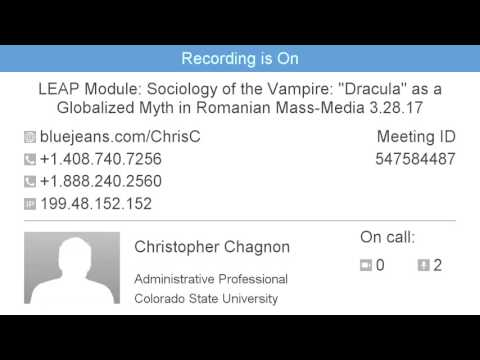 "Sociology of the Vampire: ""Dracula"" as a Globalized Myth in Romanian Mass-Media Part 1"
